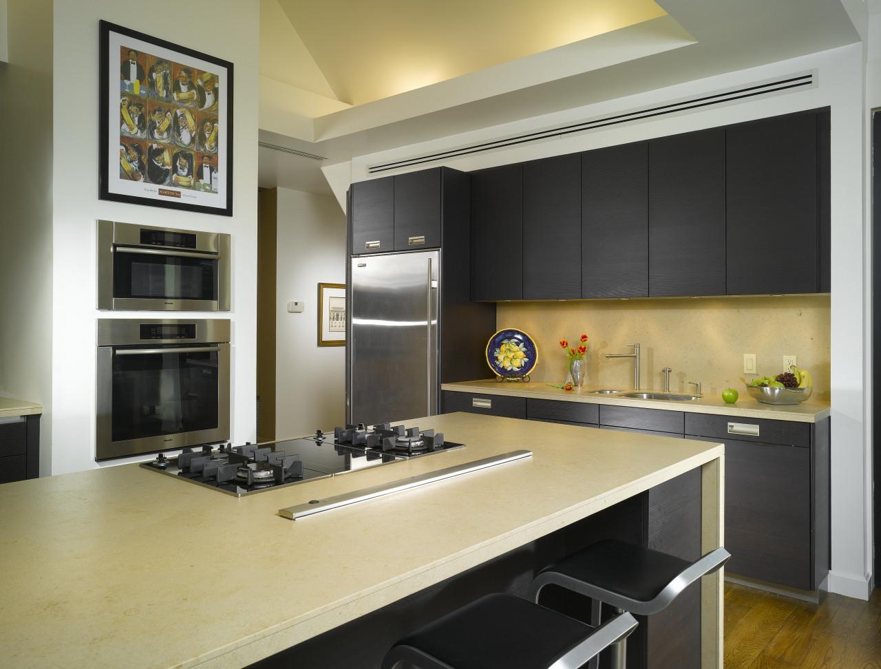 View of remodelled kitchen by SieMatic Atlanta. cabinetry, countertop, cuisine classique, interior design, kitchen, black, orange