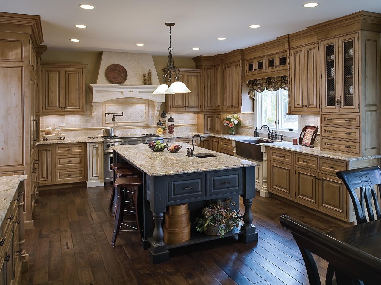 View of a kitchen designed by Drury Design cabinetry, countertop, cuisine classique, floor, flooring, hardwood, interior design, kitchen, room, wood, wood flooring, brown