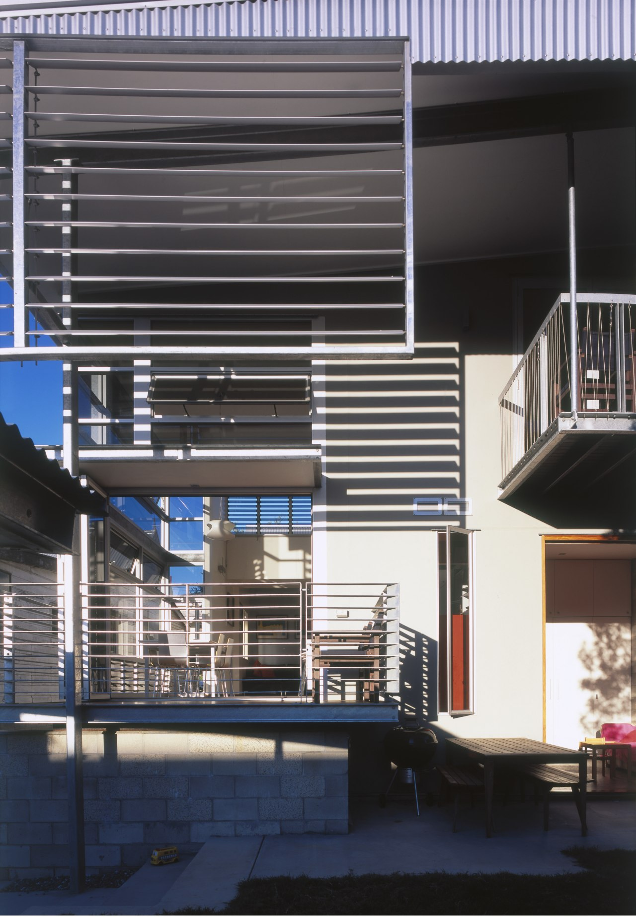Exterior view of this renovated Brisbane home which architecture, building, commercial building, daylighting, facade, house, structure, window, black