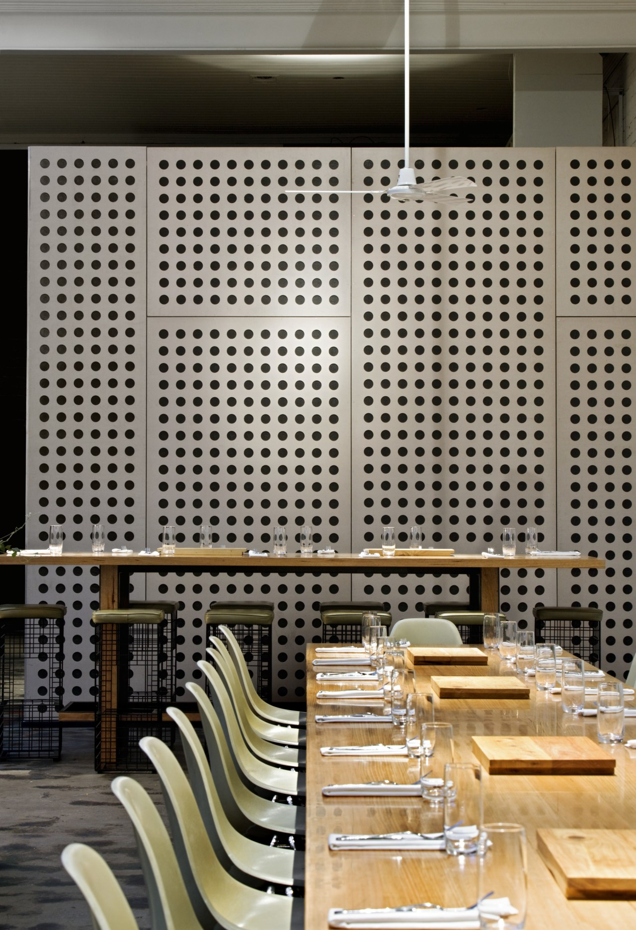 View of the cafe area at the St architecture, interior design, wall, gray, black