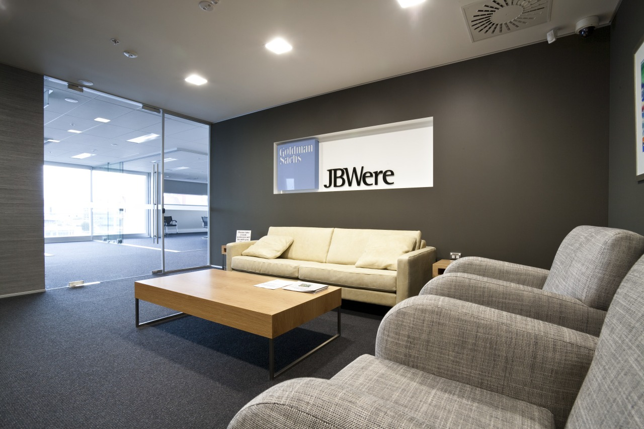 View of the Club Tower offices in Christchurch, architecture, ceiling, home, interior design, living room, real estate, room, black, gray