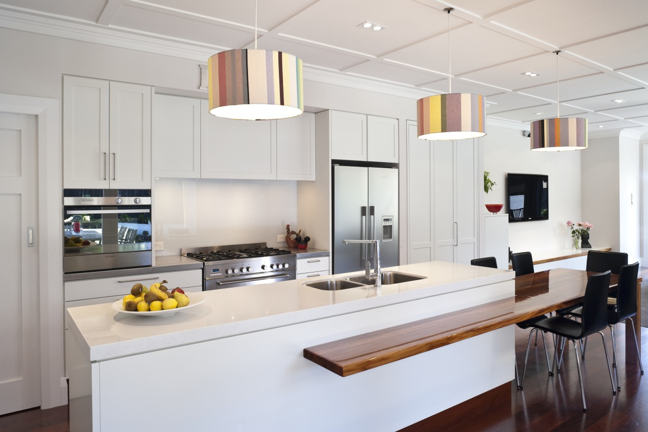 This new kitchen, by RH Cabinetmakers, features traditionally cabinetry, countertop, cuisine classique, interior design, kitchen, room, gray