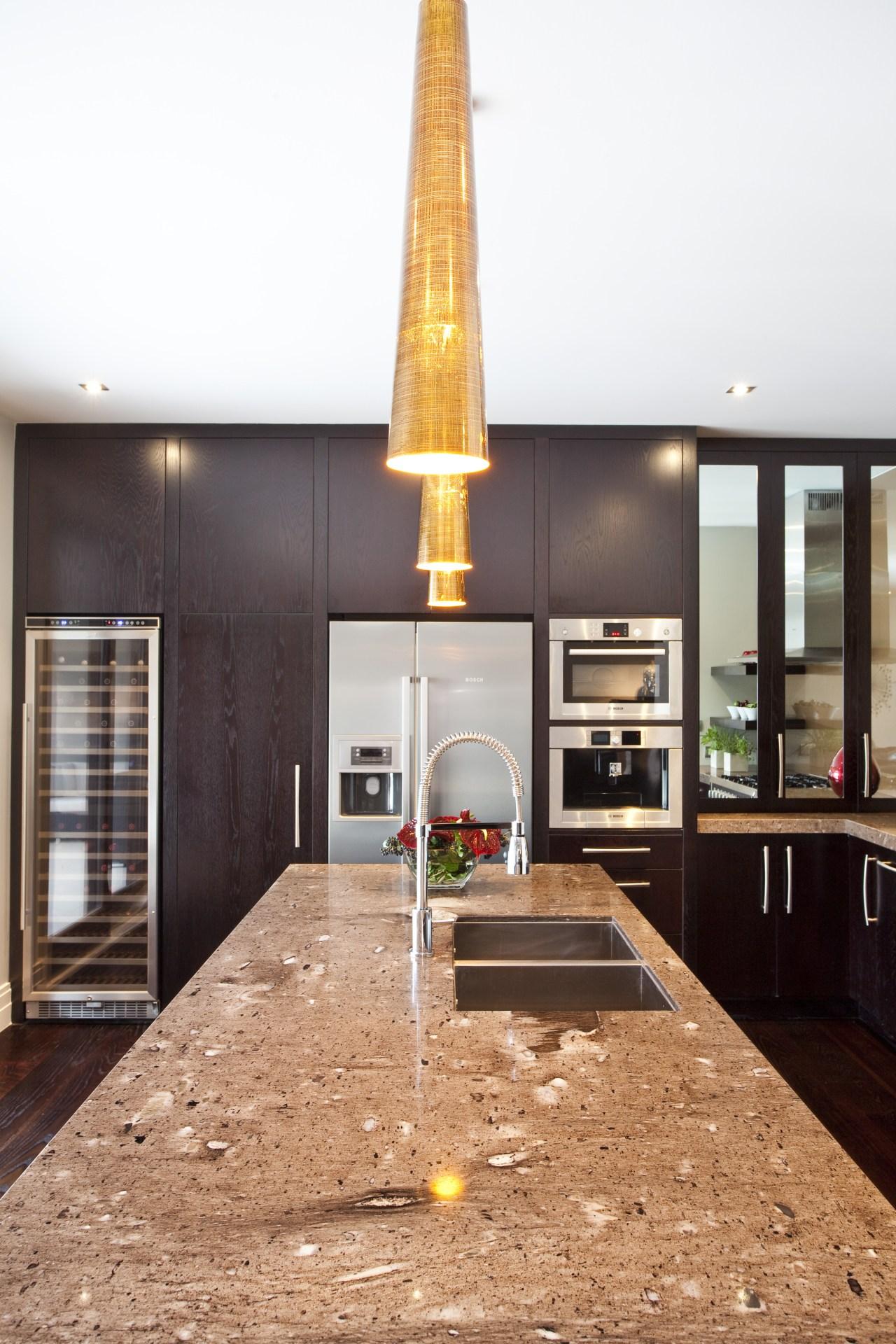 Balinese design influence. Dark-roasted American oak floorboards. Mousse house, interior design, white