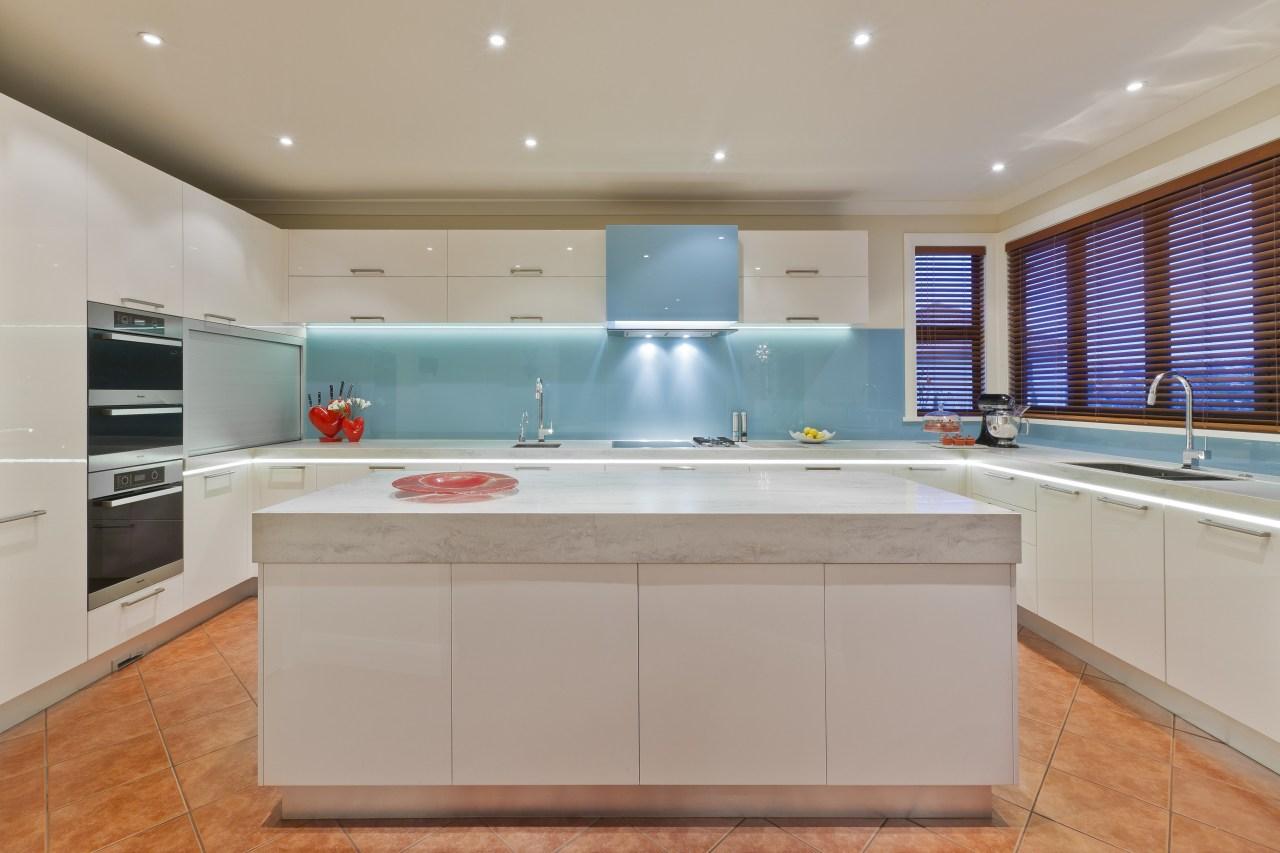 Designer Mal Corby. Corian Clam Shell bench top. cabinetry, countertop, estate, interior design, kitchen, real estate, room, gray