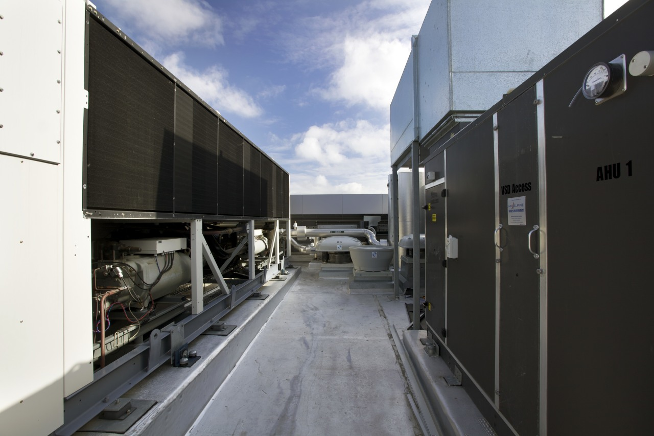 GHD benefits from HVAC by McAlpine Hussmann and black, gray