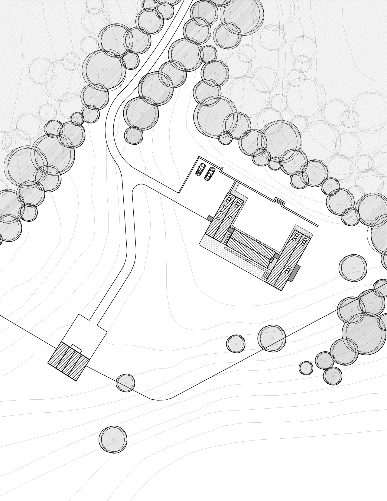 Modern country home plan by Robert M Gurney angle, area, black and white, design, diagram, drawing, font, line, line art, product, product design, structure, text, white, white