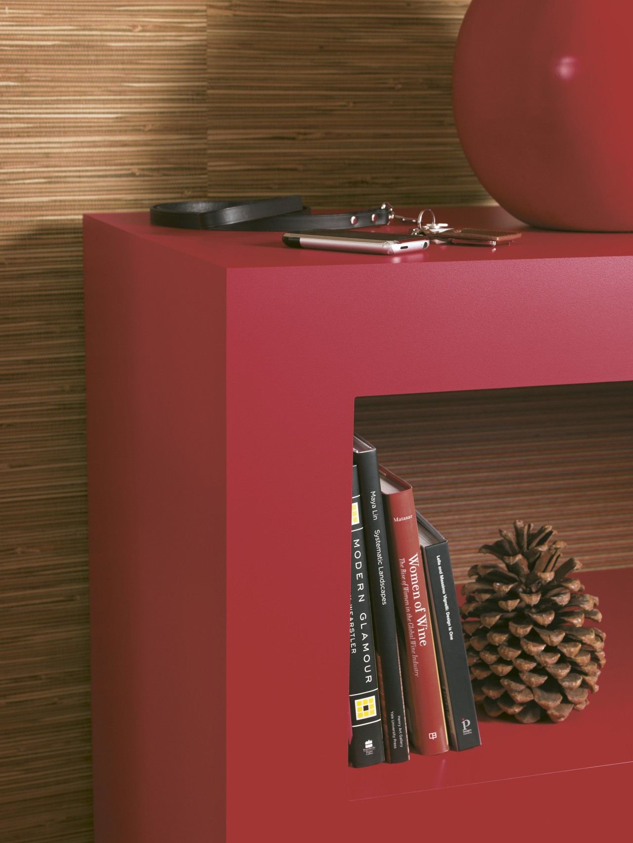 Fashion forward  Laminex Formica ColorCore orange, product, product design, shelf, table, red, brown