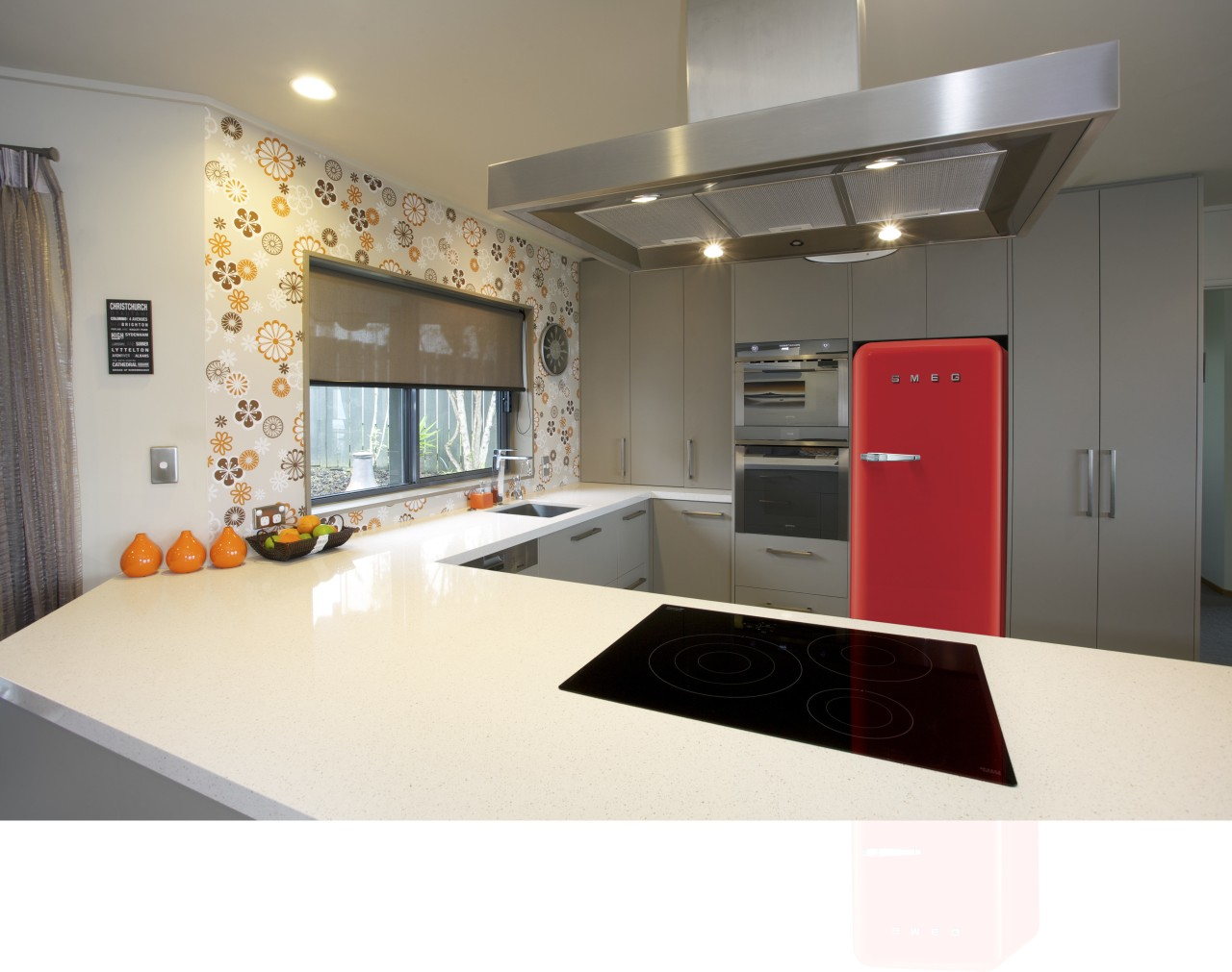 This new kitchen designed by Colleen Holder features countertop, interior design, kitchen, real estate, white, gray