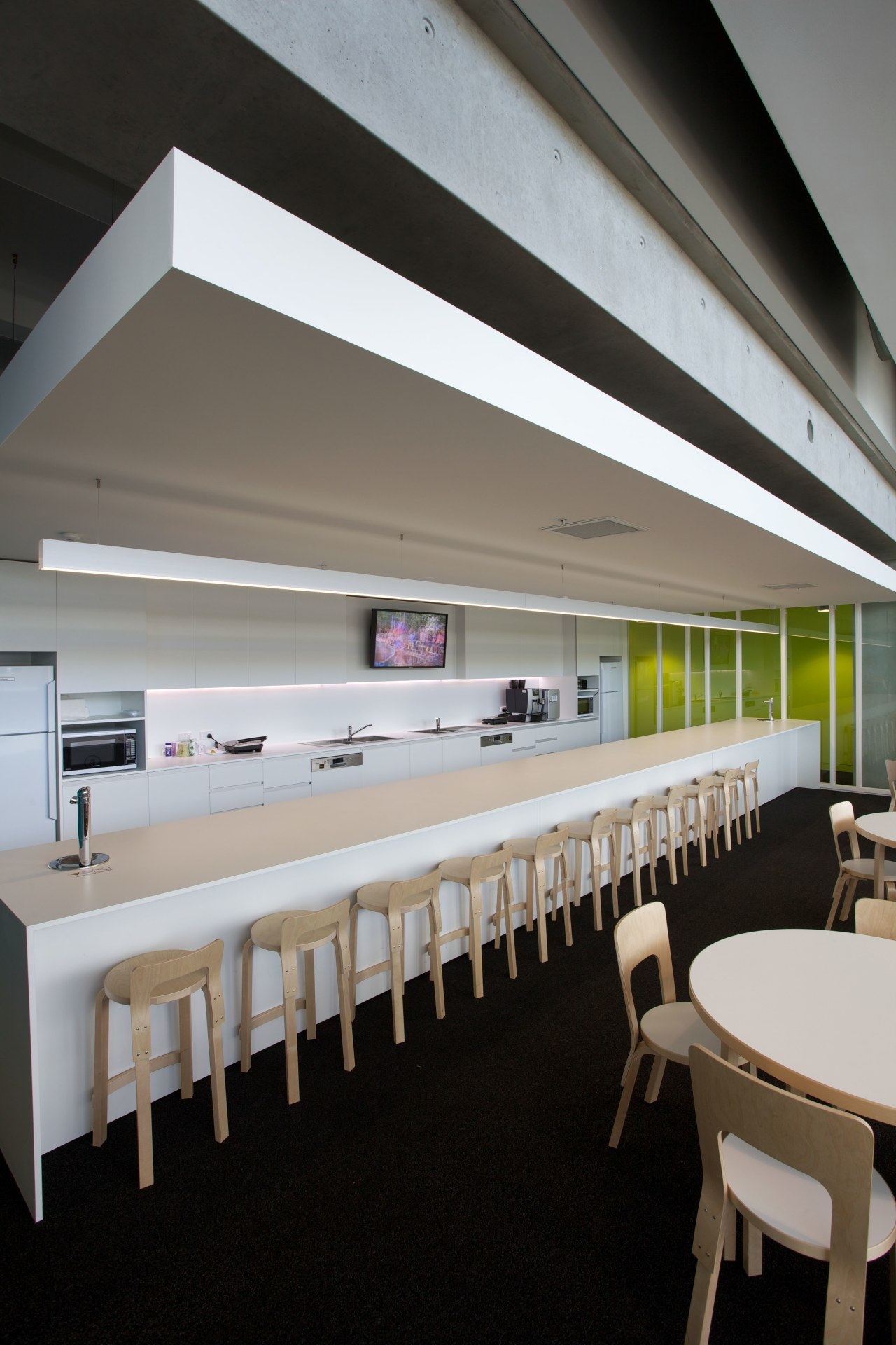ASB North Wharf joinery by Sage Manufacturing architecture, ceiling, furniture, interior design, table, gray, black