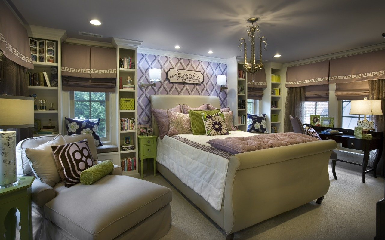 This childrens bedroom provides plenty of places to ceiling, estate, furniture, home, interior design, living room, real estate, room, brown, gray