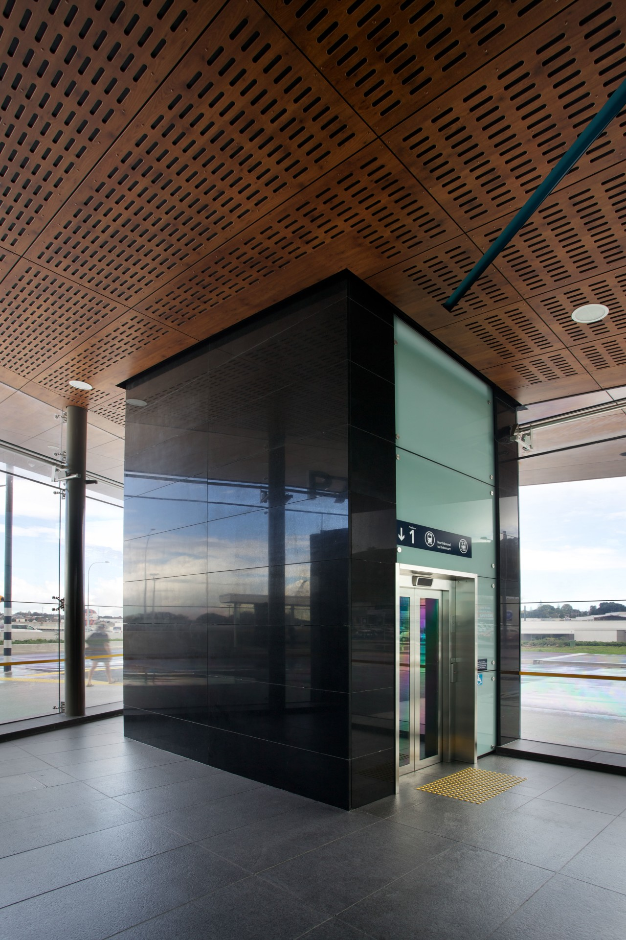 Honed basalt supplied by SCE Stone & Design architecture, building, ceiling, daylighting, glass, interior design, brown, black