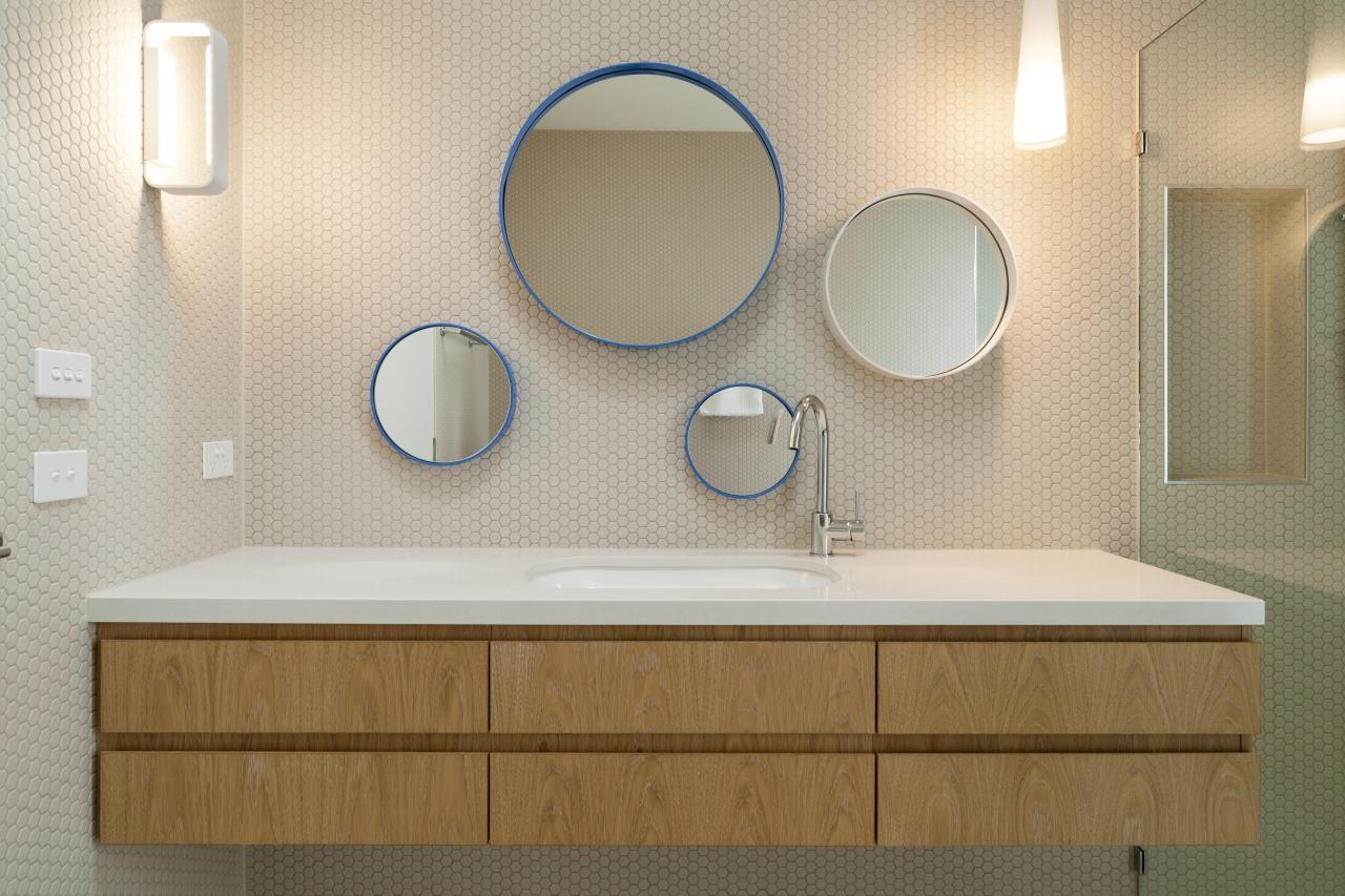 This basin helps further the bathroom's sense of bathroom, bathroom accessory, bathroom cabinet, bathroom sink, interior design, plumbing fixture, product design, room, sink, tap, gray, brown