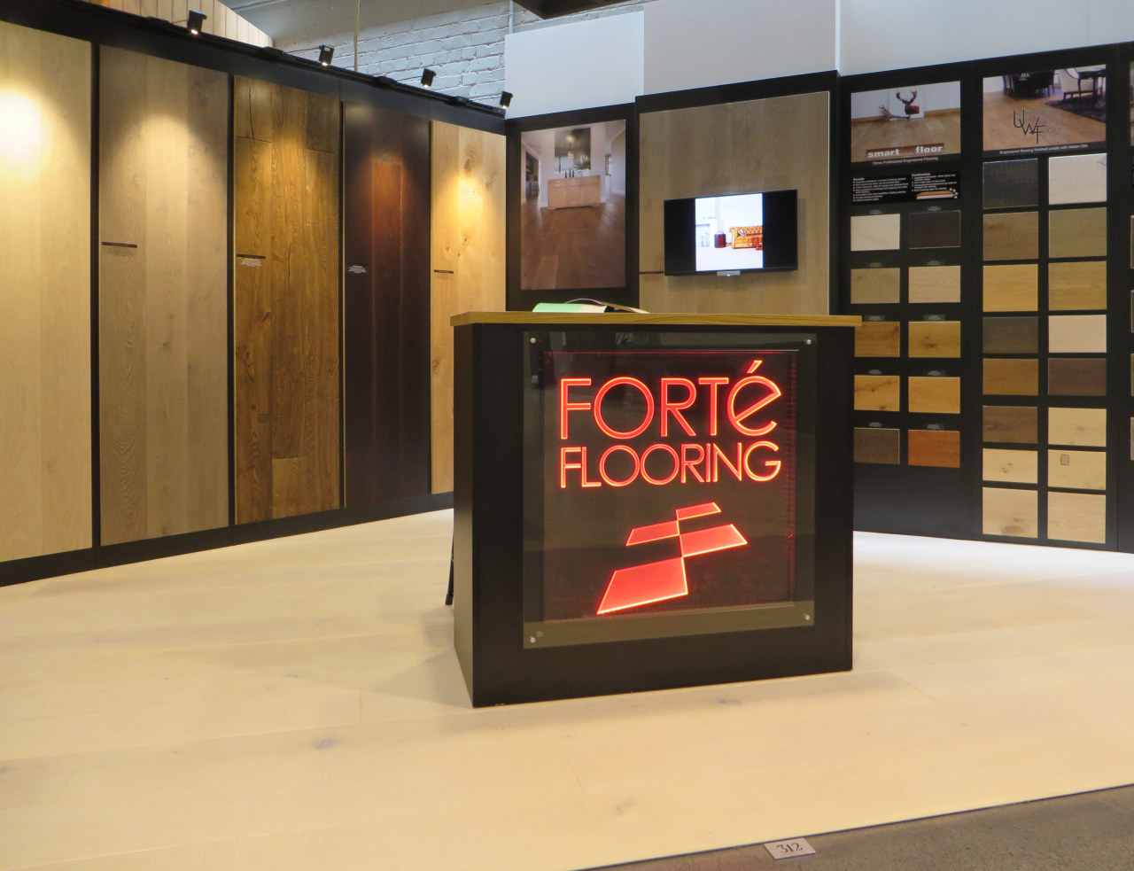 A wide variety of interior decor solutions is display case, exhibition, flooring, orange, black