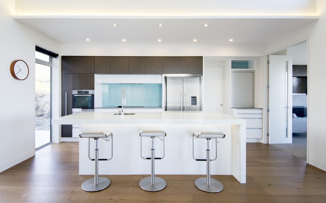 Sleek, simple and easy to use  this countertop, floor, interior design, kitchen, real estate, room, white
