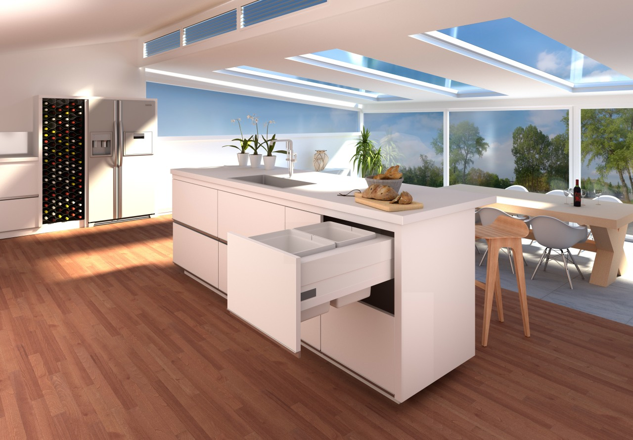 Tanova systems provide a hassle-free solution to keeping floor, flooring, furniture, hardwood, interior design, kitchen, laminate flooring, product design, table, wood flooring, gray, red