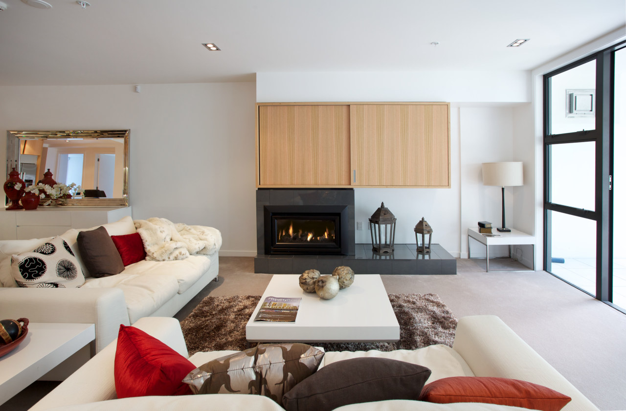 The Balfour apartments in Parnell are all  ceiling, floor, hearth, interior design, interior designer, living room, property, real estate, room, gray, white