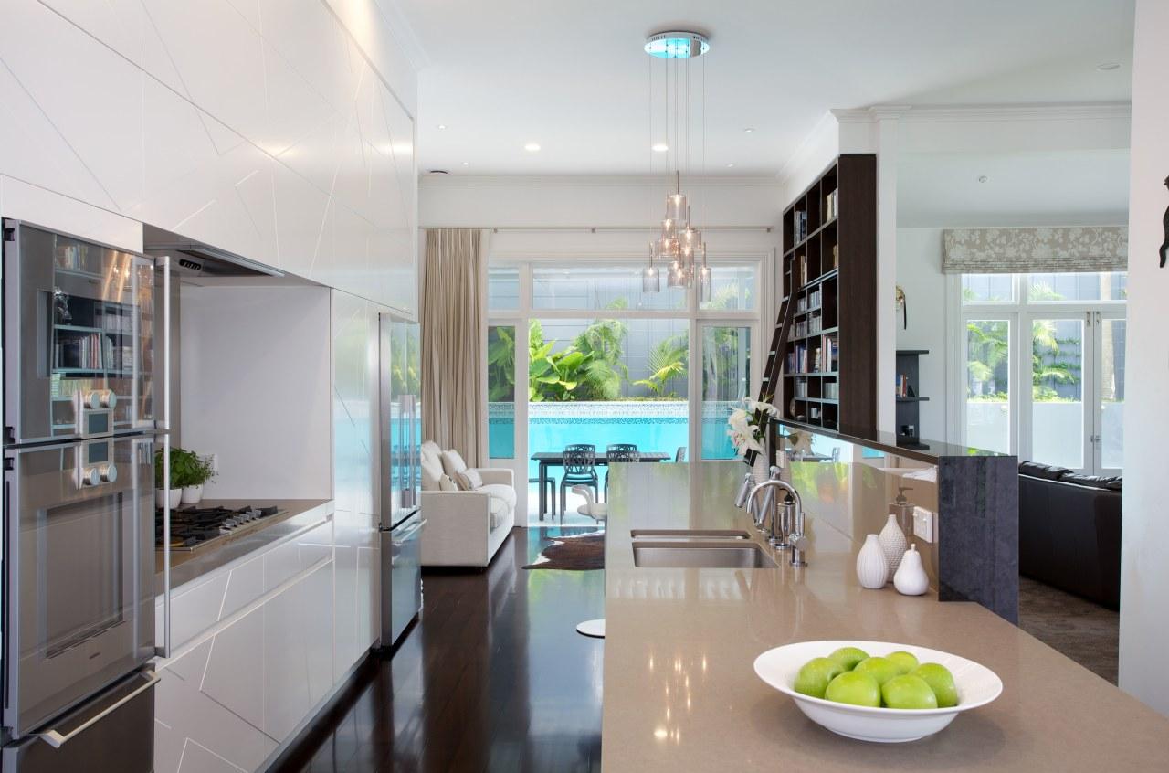 Natalie Du Bois designed the sunburst pattern on architecture, countertop, home, interior design, kitchen, property, real estate, room, gray