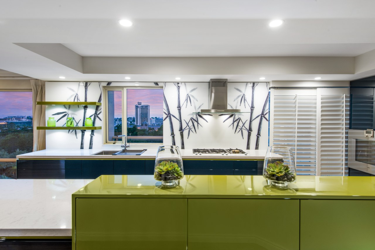 Cabinetry colours in this apartment kitchen by interior ceiling, countertop, interior design, kitchen, gray