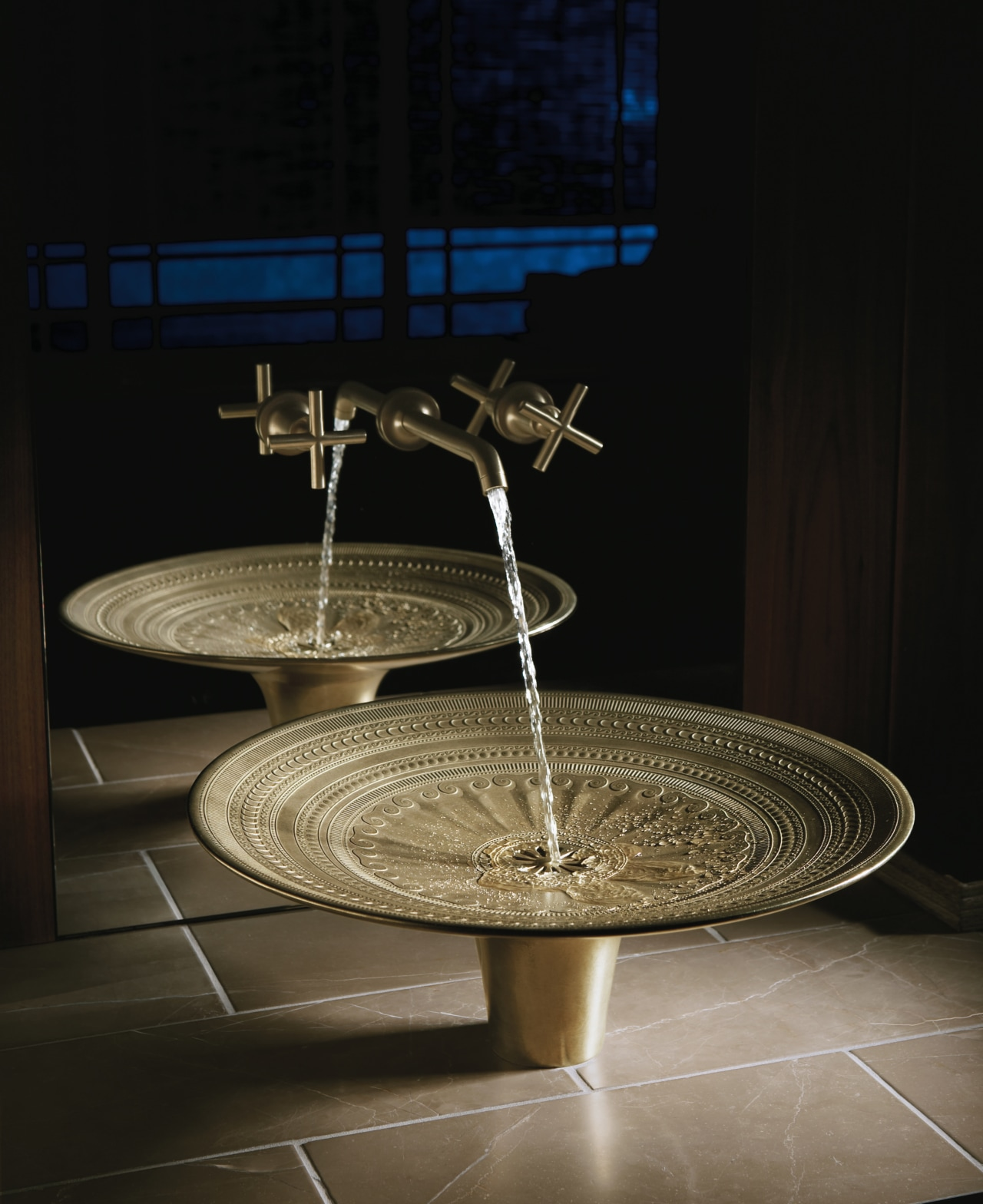 Kohlers new Kamala bronze sink is available from plumbing fixture, product design, sink, table, black