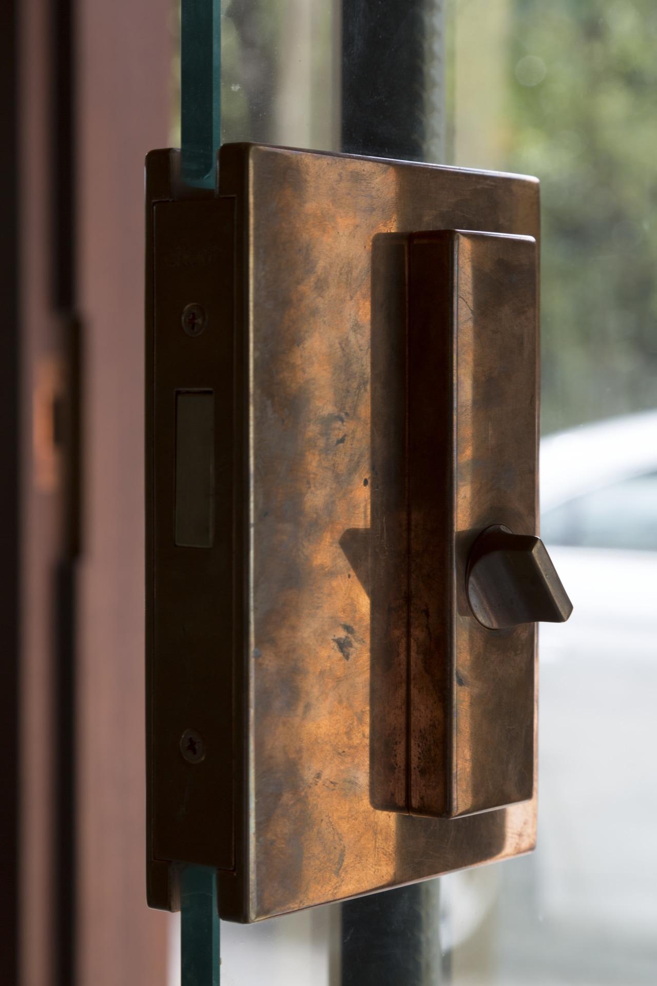Locked-in charm  this lock mechanism forms part metal, brown