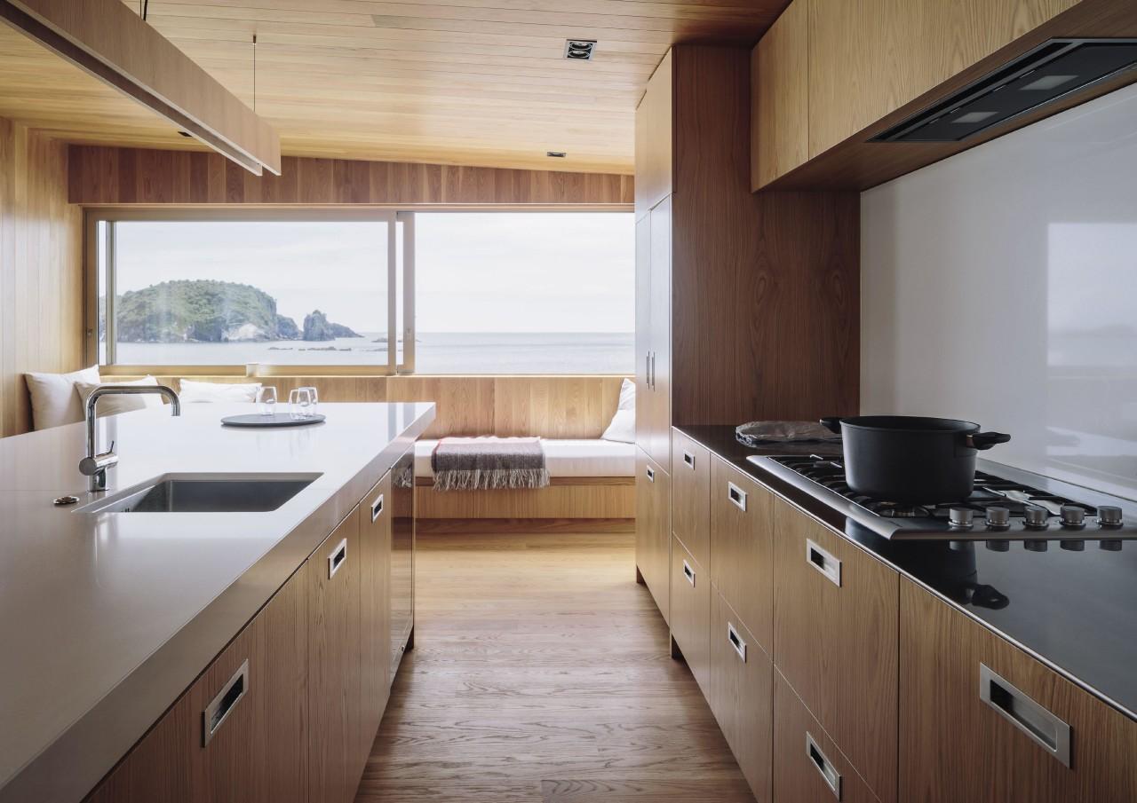 Wood tones predominate in this kitchen, part of cabinetry, countertop, cuisine classique, floor, flooring, hardwood, interior design, kitchen, real estate, room, wood, wood flooring, gray, brown