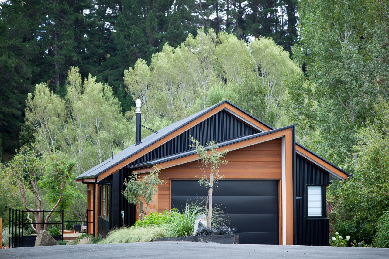 Fresh angle  this home by house designer cottage, farmhouse, home, house, log cabin, plant, real estate, shed, siding, tree, green, black