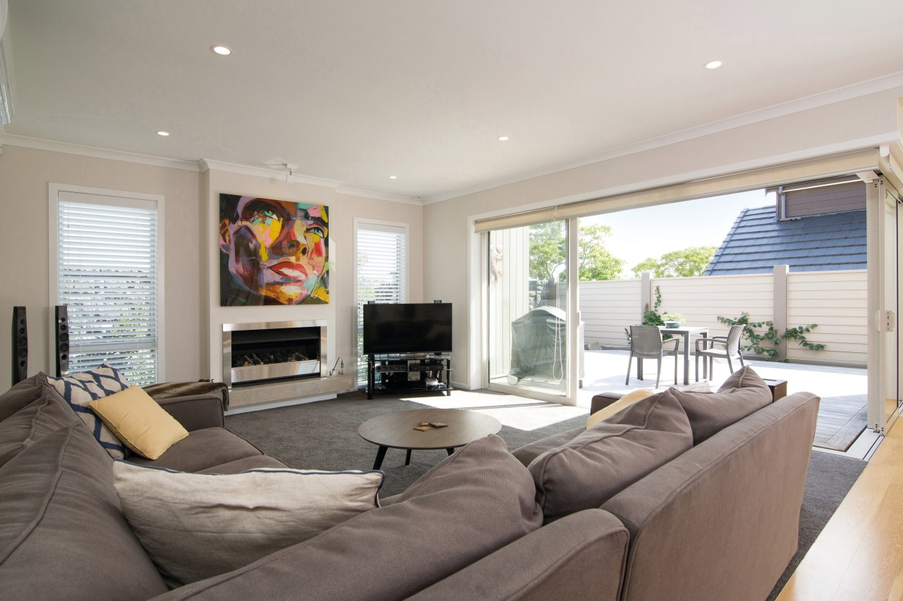 For this GJ Gardner home, the open-plan interiors ceiling, estate, home, interior design, living room, property, real estate, room, window, gray