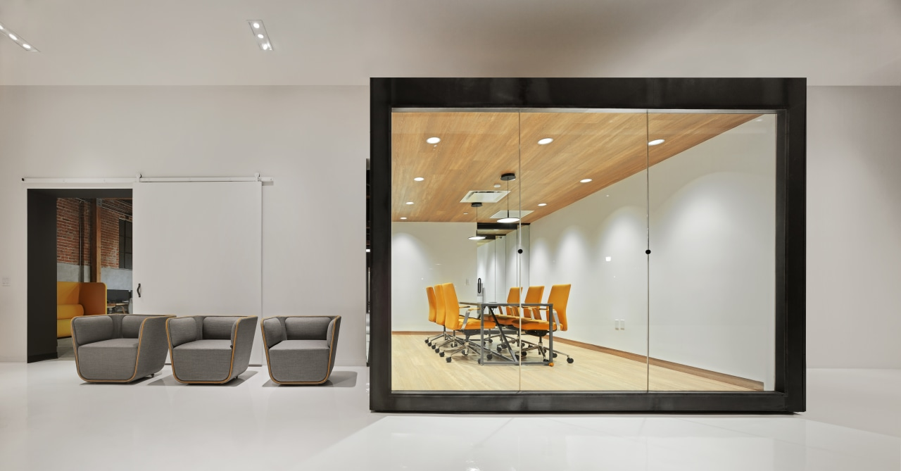 Designed by Cory Grosser + Associates, Supplyframe DesignLab ceiling, interior design, product design, gray