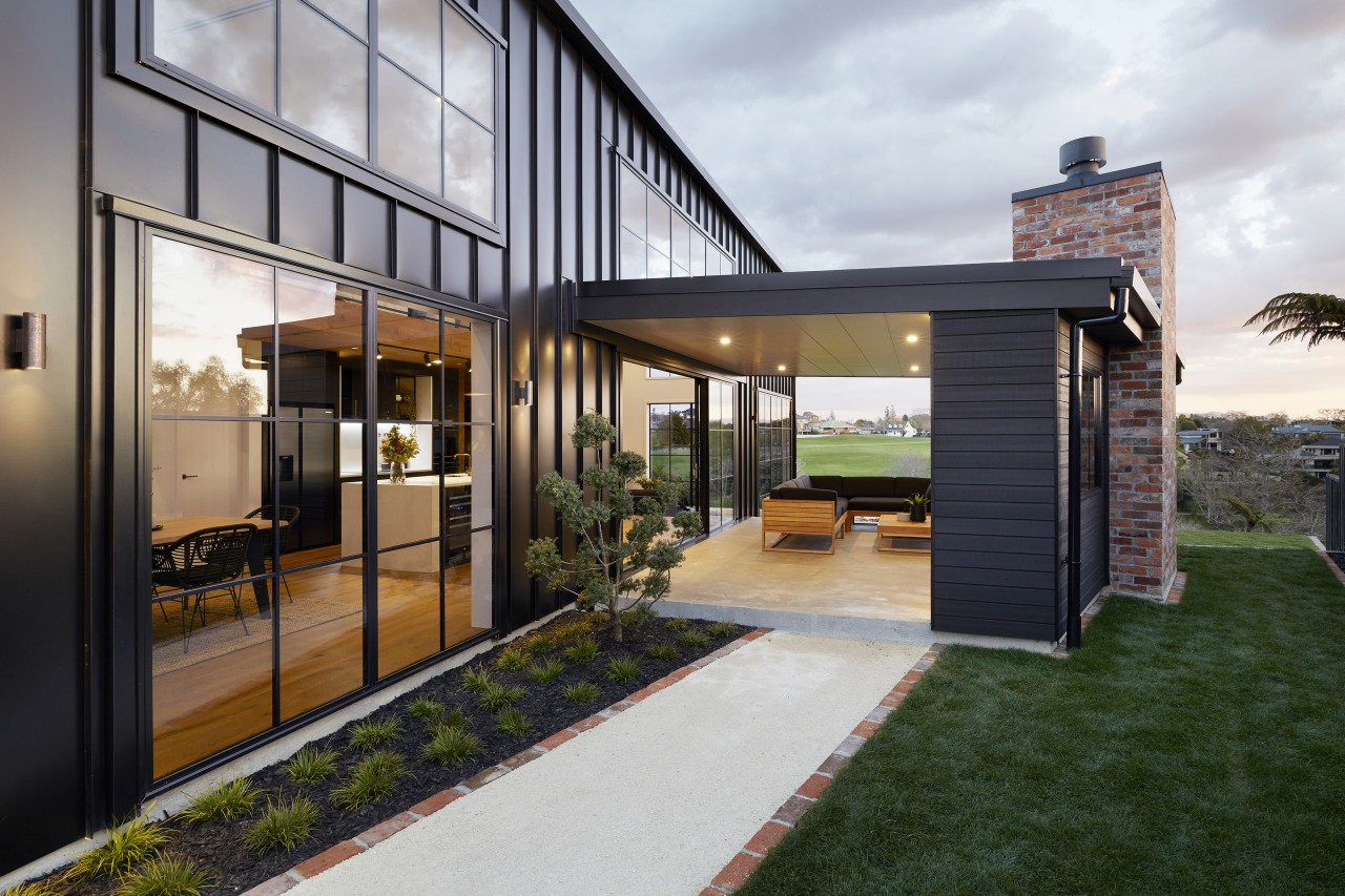 This sheltered indoor-outdoor space is only a few