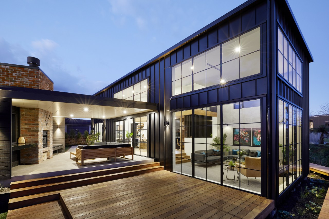 The dramatic, double-height lounge is ideally positioned to