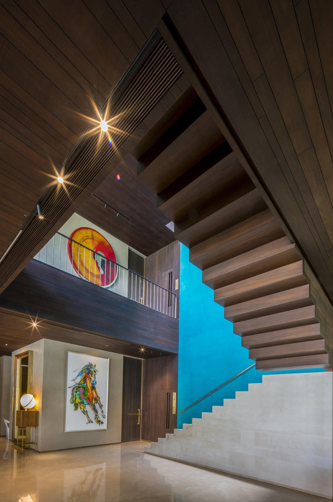 Going up? Going Down? The stair treads repeated architecture, building, ceiling, house, interior design, light, lighting, night, black