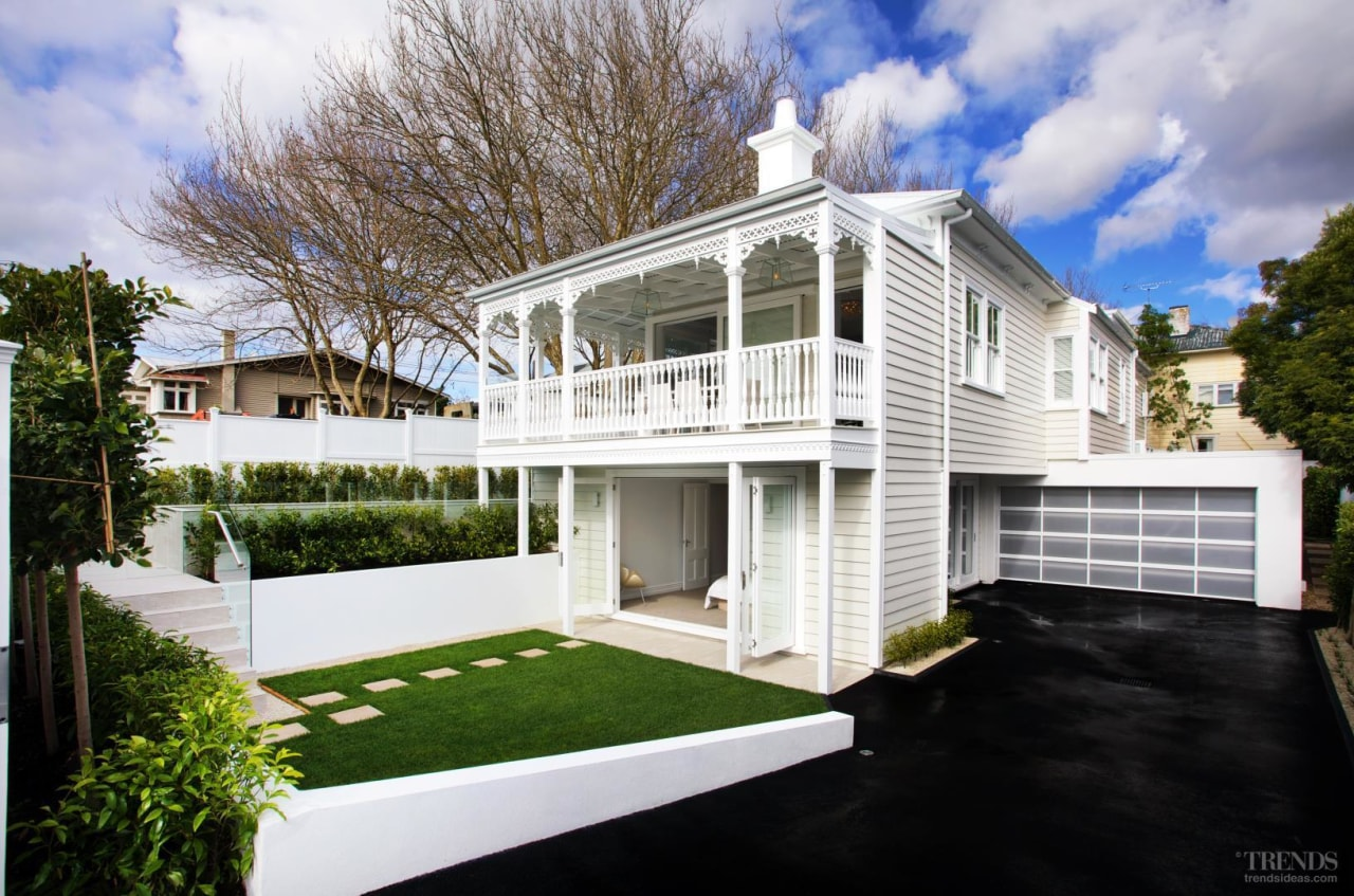 Grand affair – classic weatherboards, filigree detailing and architecture, building, cottage, elevation, estate, facade, home, house, luxury vehicle, property, real estate, residential area, siding, window, white