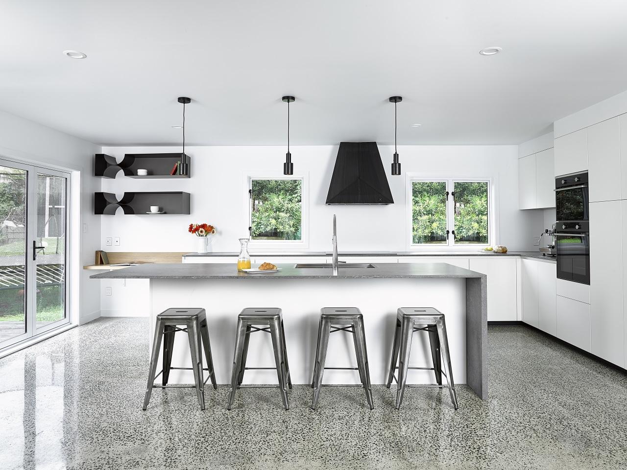 To replace their dark and oppressive existing kitchen, countertop, interior design, kitchen, white