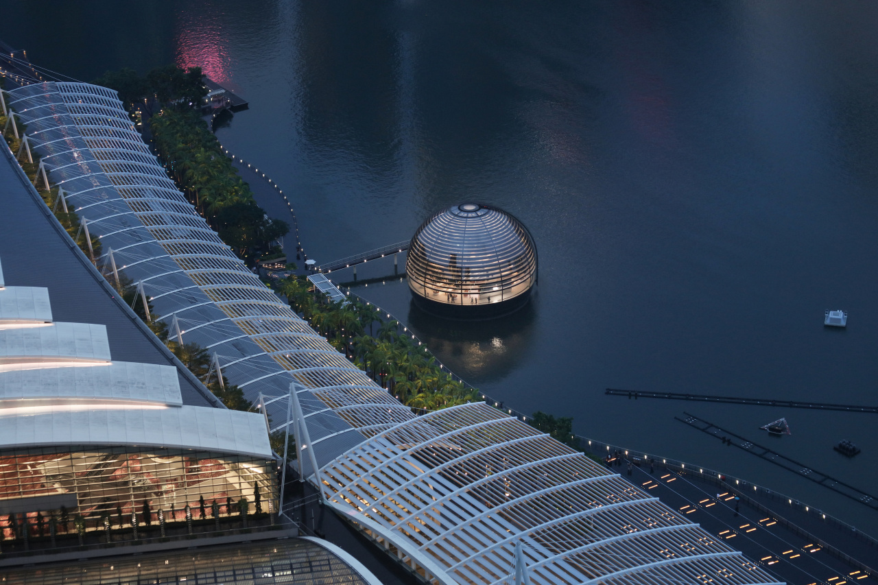 The 30-metre-diameter structure is a fully glazed dome