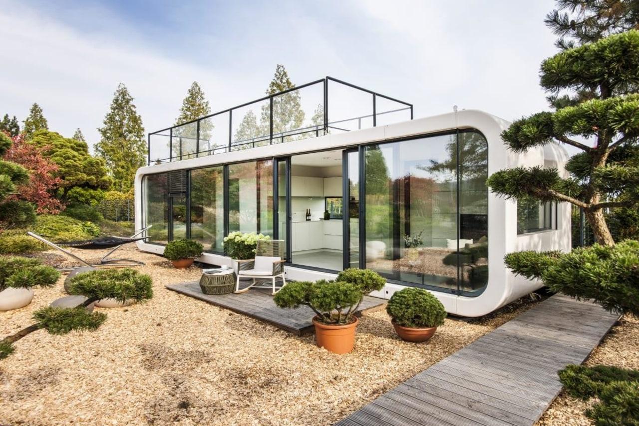 LTG's Coodu architecture, backyard, courtyard, estate, facade, home, house, orangery, property, real estate, yard, white, brown