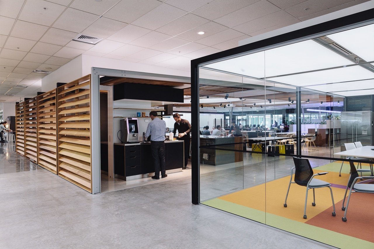 Demountable partitioning at Fisher & Paykel, Auckland. Design