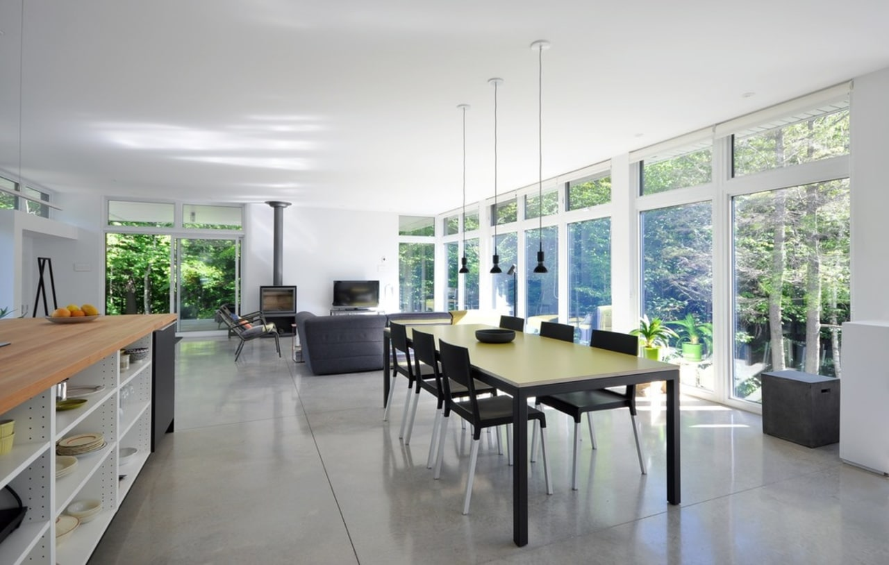 Another thing you can do is increase the daylighting, house, interior design, property, real estate, table, window, gray