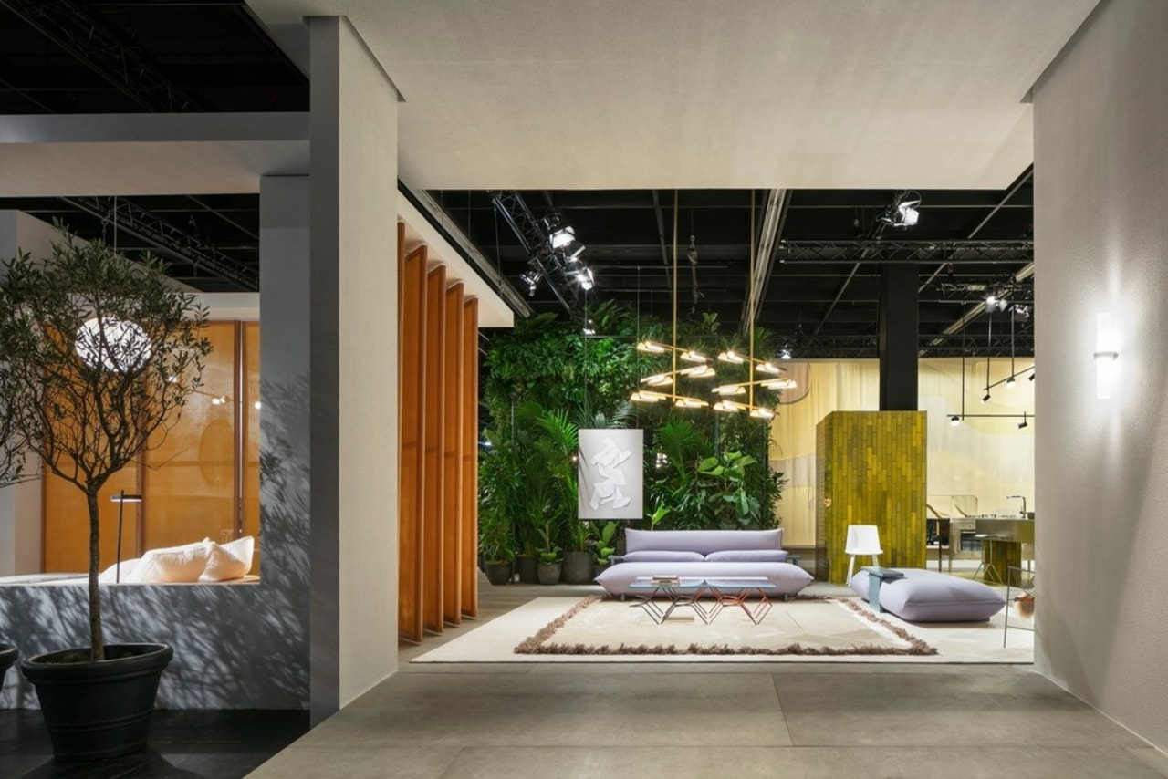 """""""Living by Moods"""", Studio Truly Truly's Das Haus architecture, building, ceiling, floor, flooring, furniture, home, house, interior design, lobby, property, real estate, room, gray, black"""