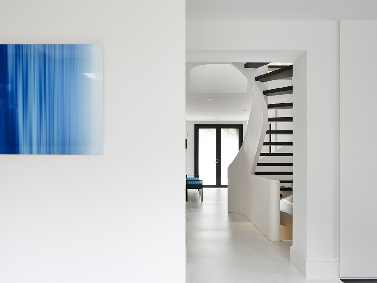Foremost among the interior architectural changes is the white