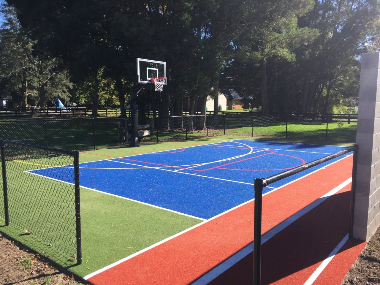 With TigerTurf's multi-sport surfaces, your tennis court can ball game, grass, net, play, sport venue, sports, tennis court, black