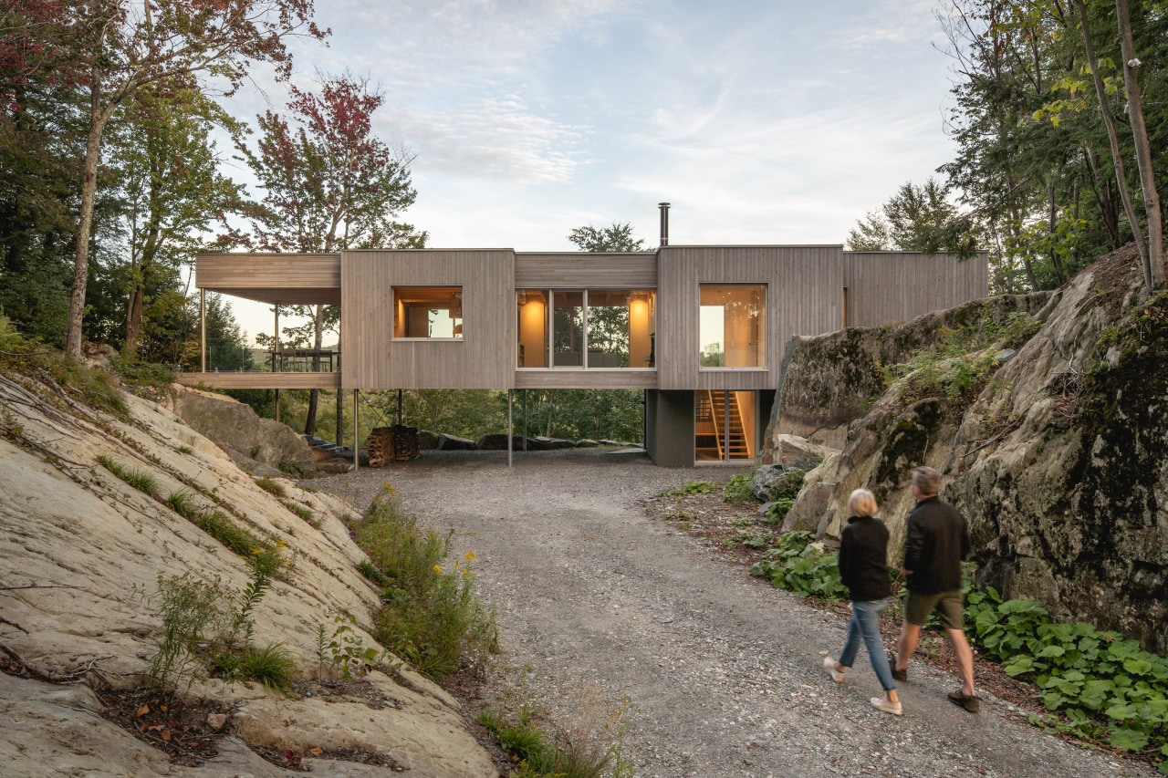 The home dovetails with rather than dominates the