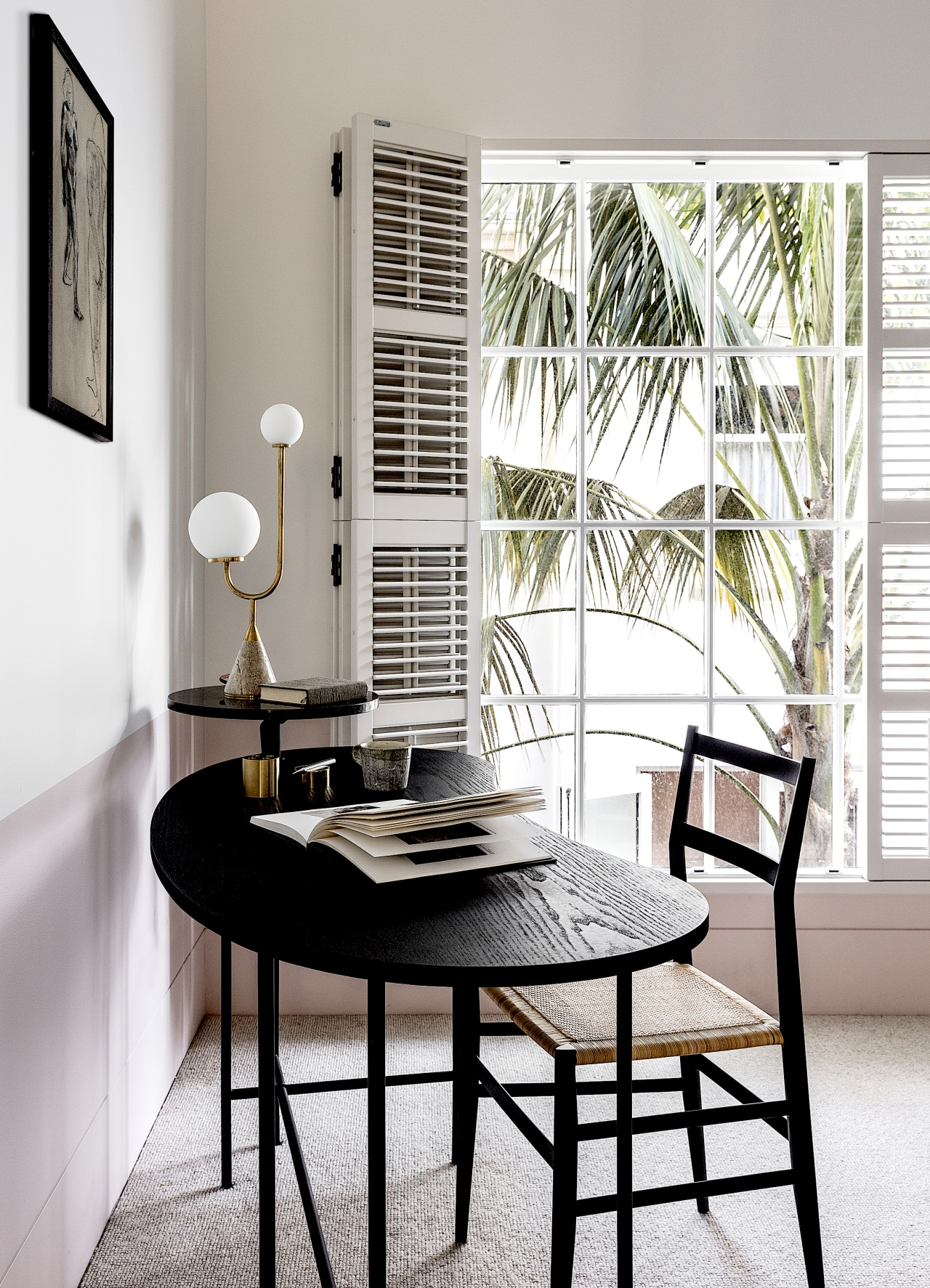 District views are carefully framed by paneled and white