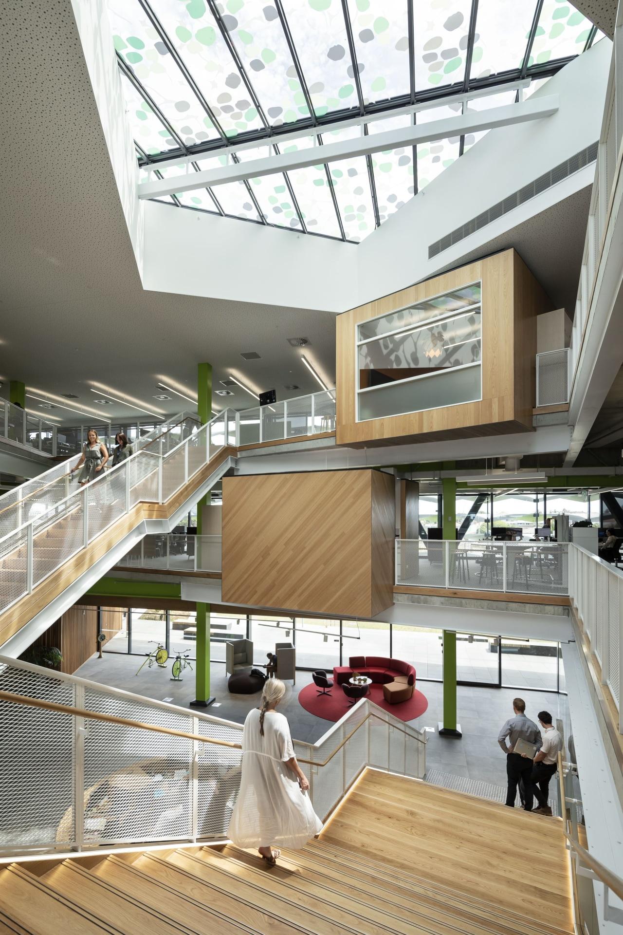 Open, light-filled and, well, fun, the Zespri building