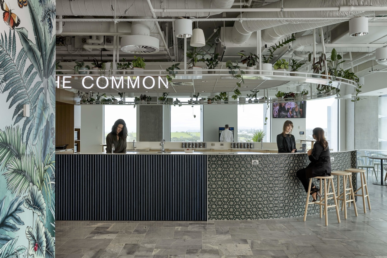 """The Common"" is a large, central social hub gray"