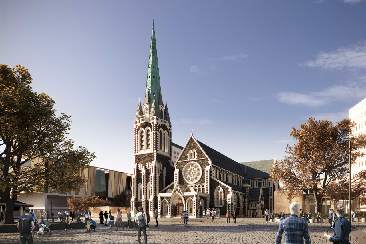 The cathedral – while retaining many heritage features