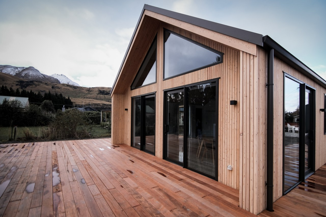 With Siberian larch cladding, Kwila decking, spacious interiors