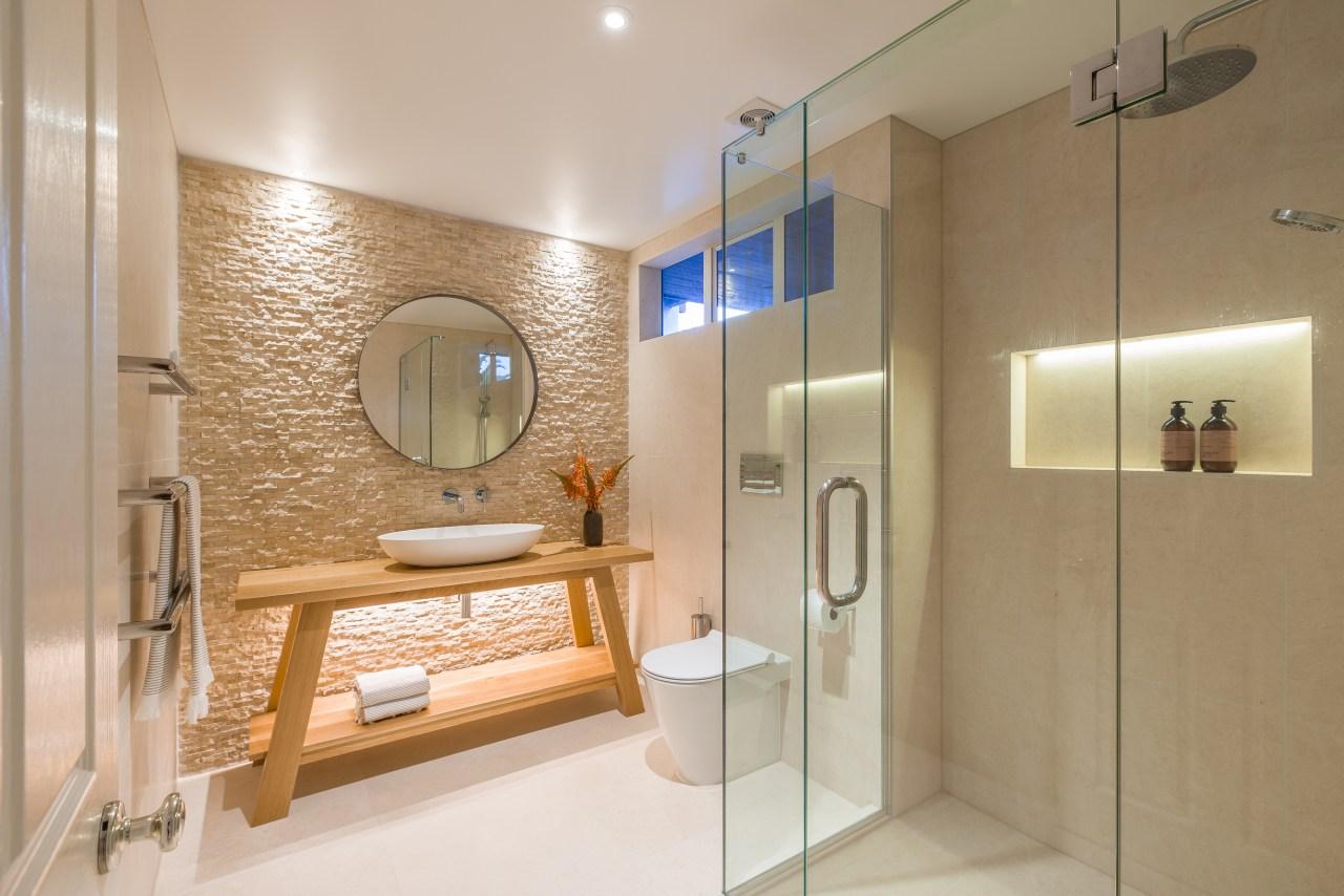 2018 TIDA New Zealand Designer Powder/guest room Winner bathroom, home, interior design, real estate, room, brown, gray