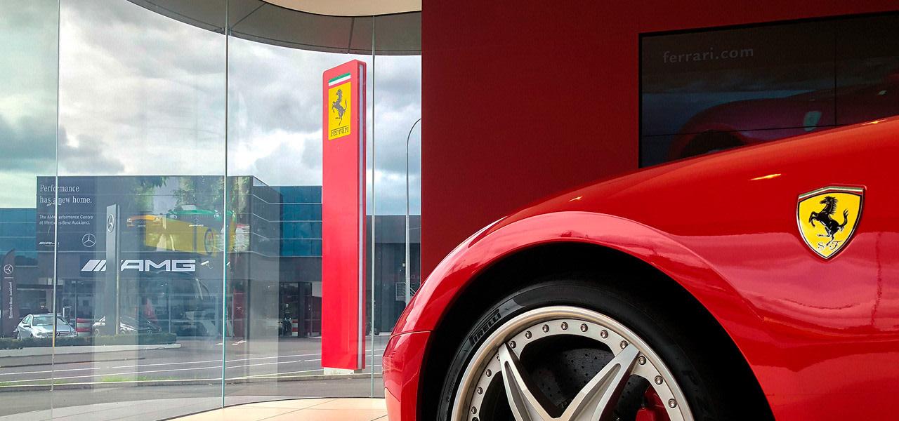 Ferrari Showroom 1 - alloy wheel | auto alloy wheel, auto part, automotive design, automotive exterior, automotive lighting, automotive tire, automotive wheel system, car, fender, mode of transport, motor vehicle, red, rim, tire, vehicle, vehicle door, wheel, red