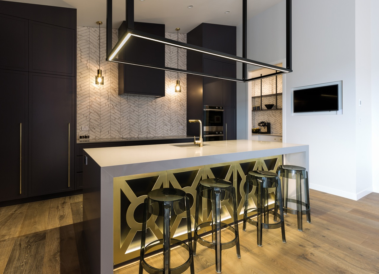 The owners' overall brief for their new home architecture, bar stool, building, cabinetry, ceiling, countertop, design, dining room, floor, flooring, furniture, hardwood, home, house, interior design, kitchen, lighting, loft, material property, property, room, stool, table, black