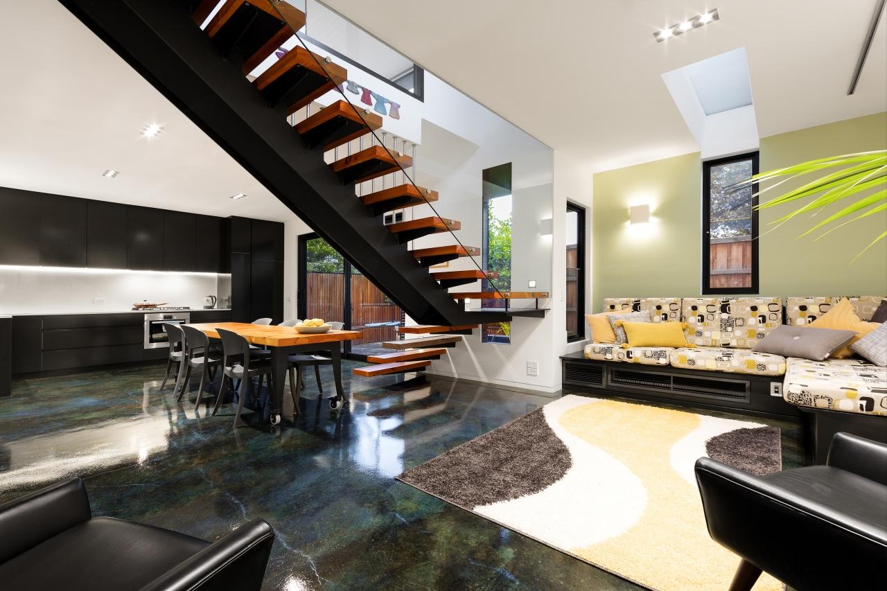 Little Charlotte 04 - architecture | interior design architecture, interior design, living room, real estate, white, black